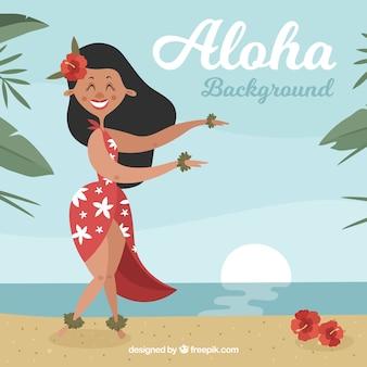 Mooie Hawaiiaanse achtergrond op het strand