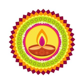 Mooie kleurrijke gelukkige diwali vector achtergrond