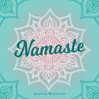 Mooie namaste achtergrond met handgetekende mandala