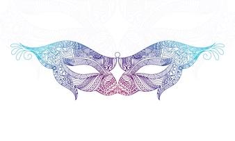 Mooie sier masker ontwerp