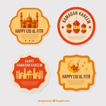 Mooie stickers van ramadan kareem