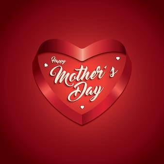 Mother's day achtergrond met hart