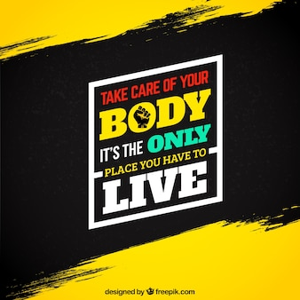 Motiverende fitness citaat op grunge achtergrond