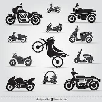 Motorfiets iconen gratis