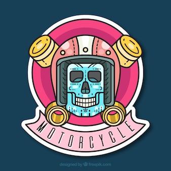 Motorfiets logo met schedel ontwerp