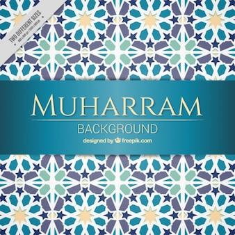 Muharram mozaïekachtergrond