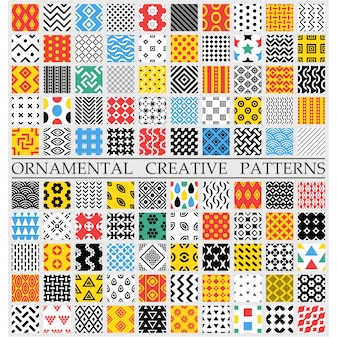 Multicolor creatieve patronen