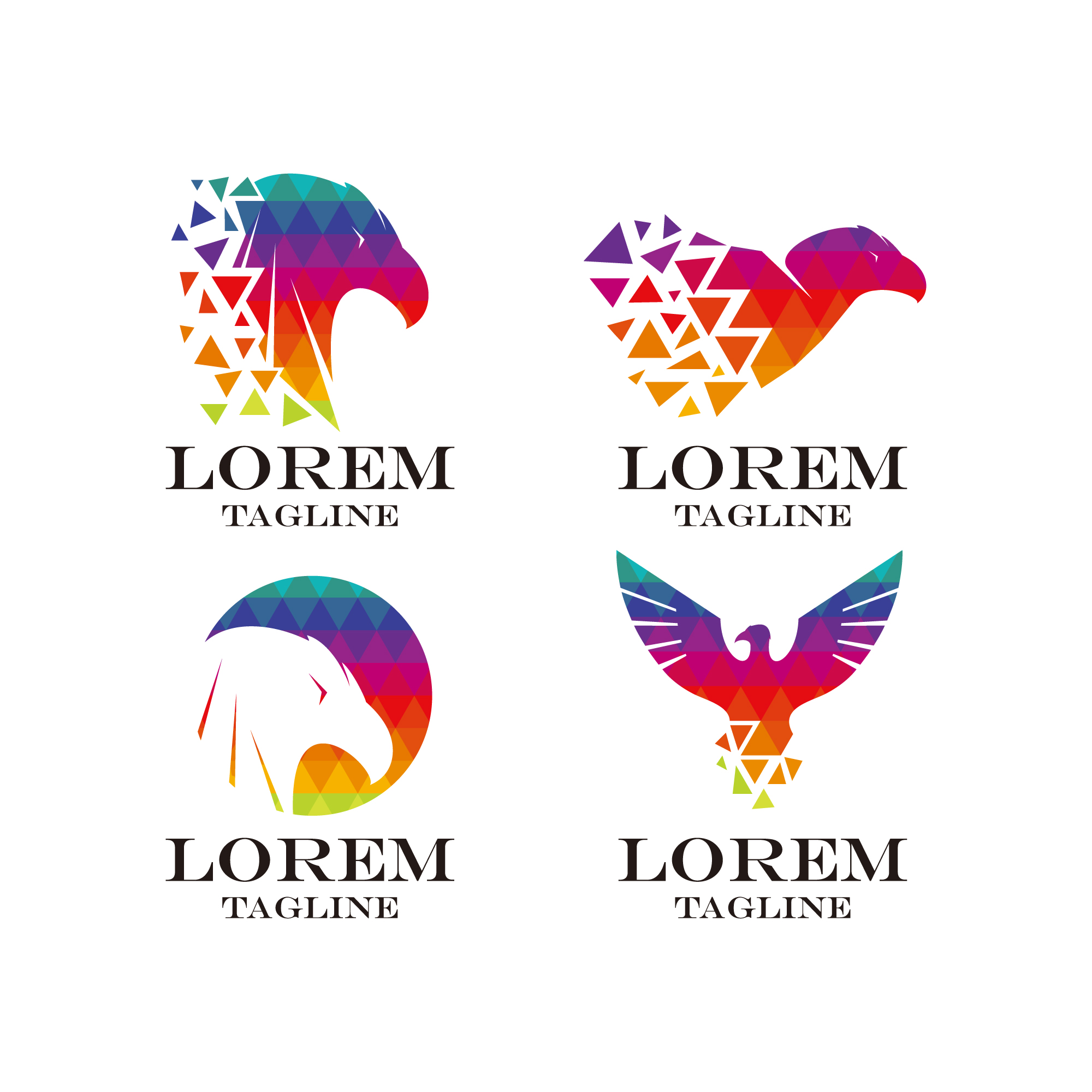 Multicolor eagle logo collectie