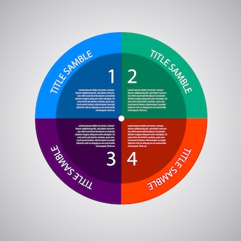 Multicolor infographic template met opties