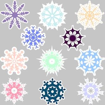 Multicolor sneeuwvlokken collectie
