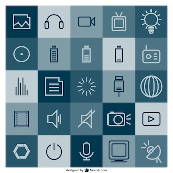 Multimedia vrij vlakke template