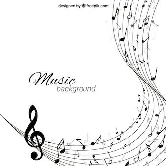Muziek achtergrond in abstracte stijl
