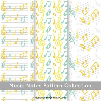 Muziek notes patroon achtergrond collectie