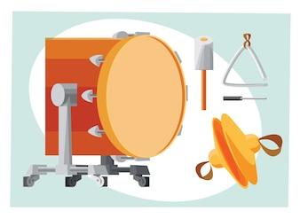 Muziek objecten vector illustratie voor ontwerp