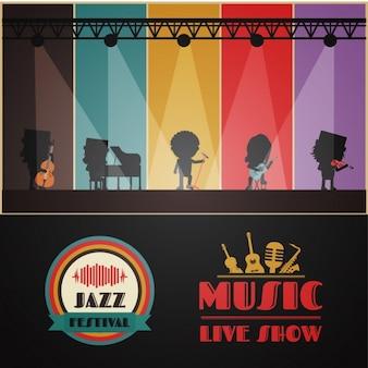 Muziek partij poster ontwerp