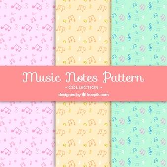 Muziek patroon achtergrond collectie