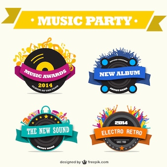 Muziek promotionele graphics gratis set