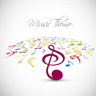 Muziek thema achtergrond