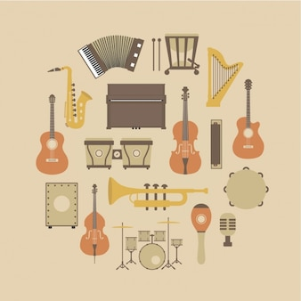 Muziekinstrumenten collectie