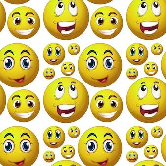Naadloos gelukkig gezicht
