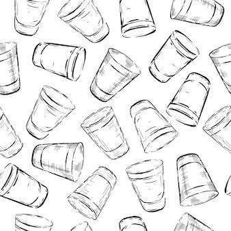 Naadloos patroon van glazen