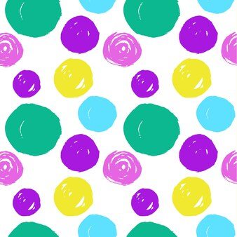 Naadloos patroon van hand getrokken cirkels