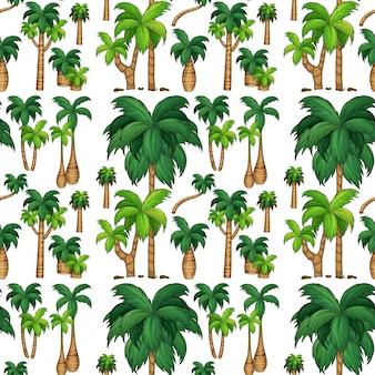 Naadloze achtergrond met palmbomen