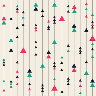 Naadloze kleurrijke geometrische patroon achtergrond van lijnen en driehoek