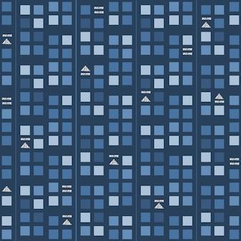 Naadloze muziek audio met zilver glitter symbool patroon op blauwe achtergrond