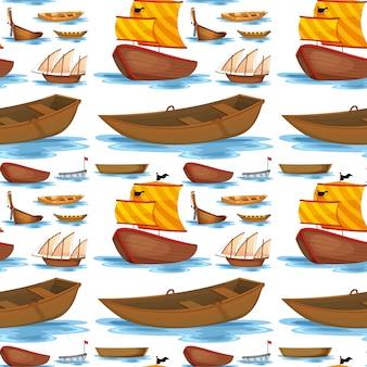 Naadloze schepen en boten