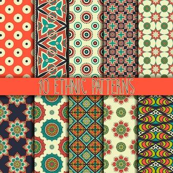 Naadloze structuur met geometrische ornament Vector set patronen