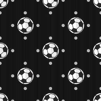 Naadloze voetbal met zilver dot glitter patroon op streep achtergrond
