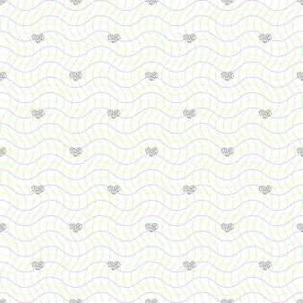 Naadloze zilveren hart glitter patroon op kleurrijke werveling achtergrond