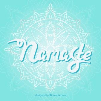 Namaste achtergrond met mandala schets