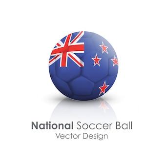 Nationaal team rond voetballand