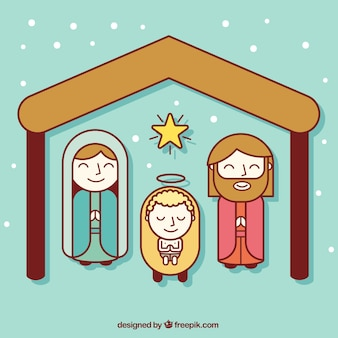 Nativity Flat Icons