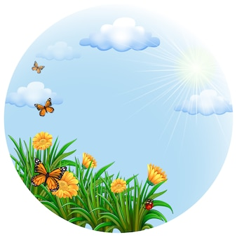 Natuur achtergrond ontwerp