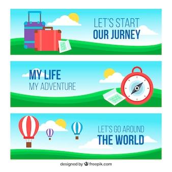 Natuur reis banner