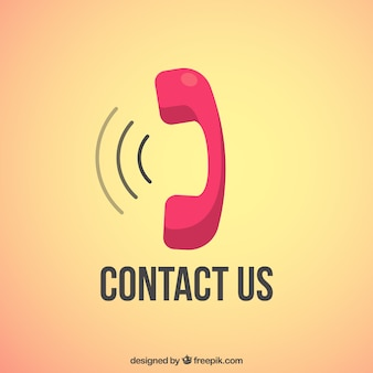 Neem contact met ons op met achtergrond ontwerp
