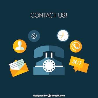Neem contact met ons pictogrammen