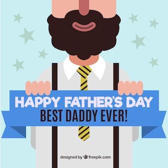 Nice Day vader groet in plat design