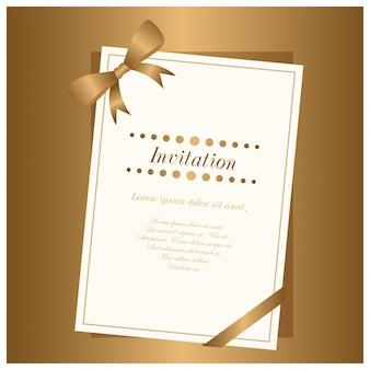 Nieuwe Elgant Brown Gradient en Witte Kleur Uitnodigingskaart gebruikt voor invitaiton doel.