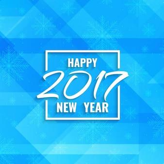 Nieuwe jaar 2017 blauwe kleur moderne achtergrond