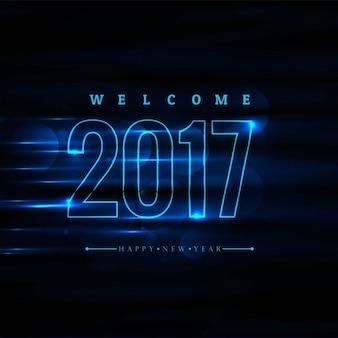 Nieuwe jaar 2017 gloeiende achtergrond