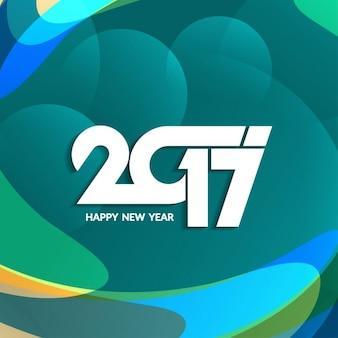 Nieuwe jaar 2017 tekst ontwerp op kleurrijke achtergrond
