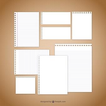Nota papier vectoren