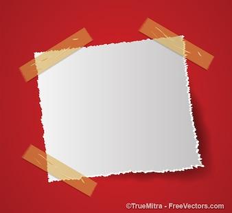 Nota van papier kleverige