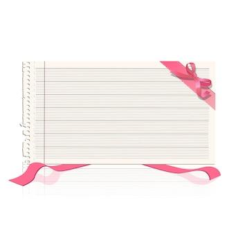 Notitieboekje papier met lint