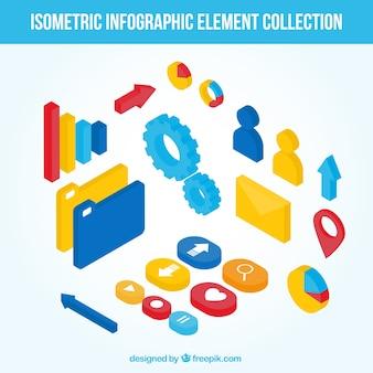 Nuttig infographic elementen in isometrisch ontwerp