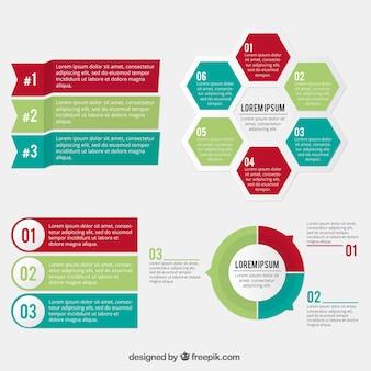 Nuttig infographic elementen in plat design